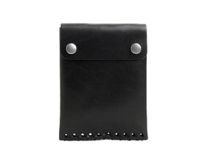 Billykirk CARD CASE WITH SNAPS IN BLACK Men's
