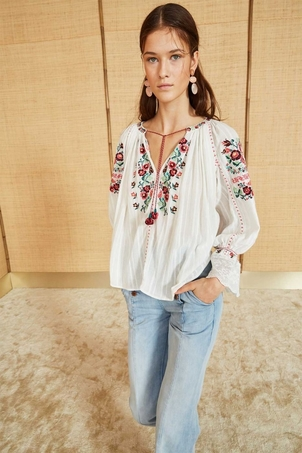 Ulla Johnson Devra Blouse - Natural (Originally $425) Sale Tops