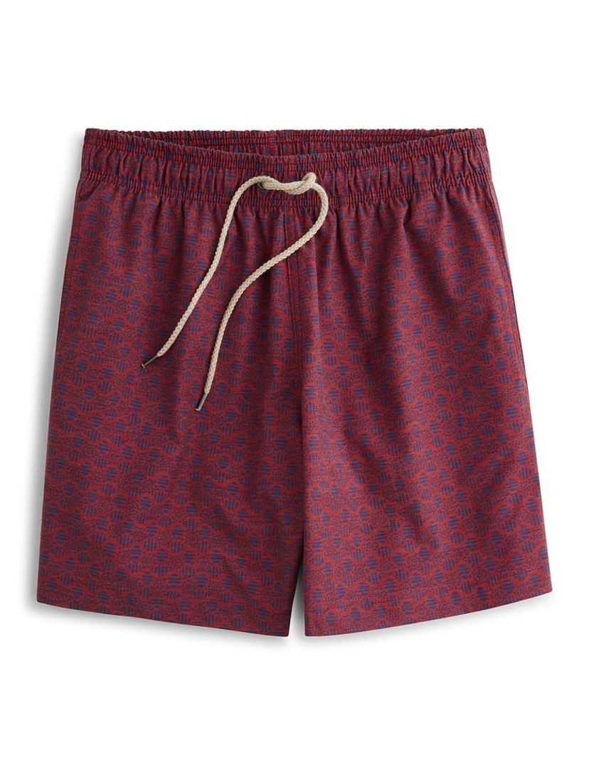 Faherty BEACON TRUNK IN ETCHED CIRCLE RED Men's