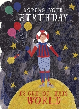 MR. BODDINGTON Birthday Card - Out of this World