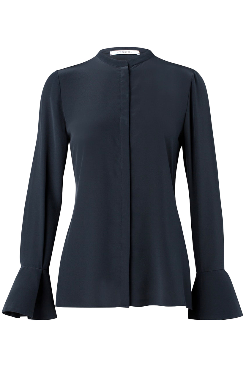 Dorothee Schumacher Captivating Motion Blouse in Dark Navy Tops