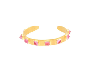 Marie-Hélène de Taillac 22K Yellow Gold Pink Tourmaline Candy Oval Punky Cuff Jewelry