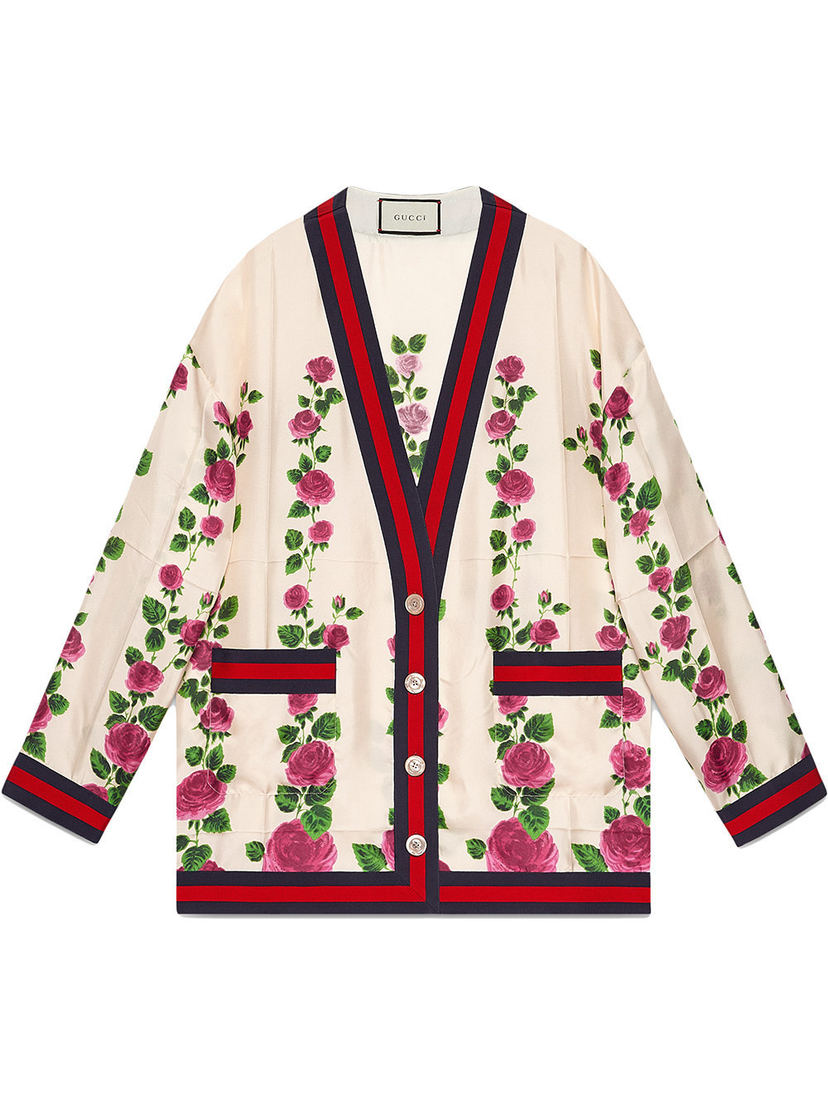 Gucci Rose Oversized Cardigan Outerwear