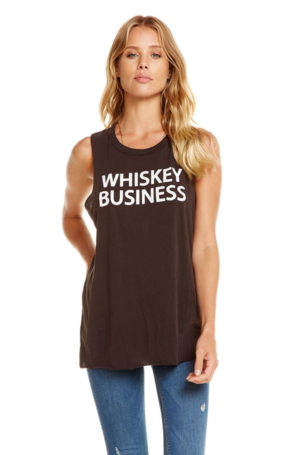 Chaser Whiskey Business Tank Tops