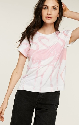 Sol Angeles Flamingo Rolled Crew Tops