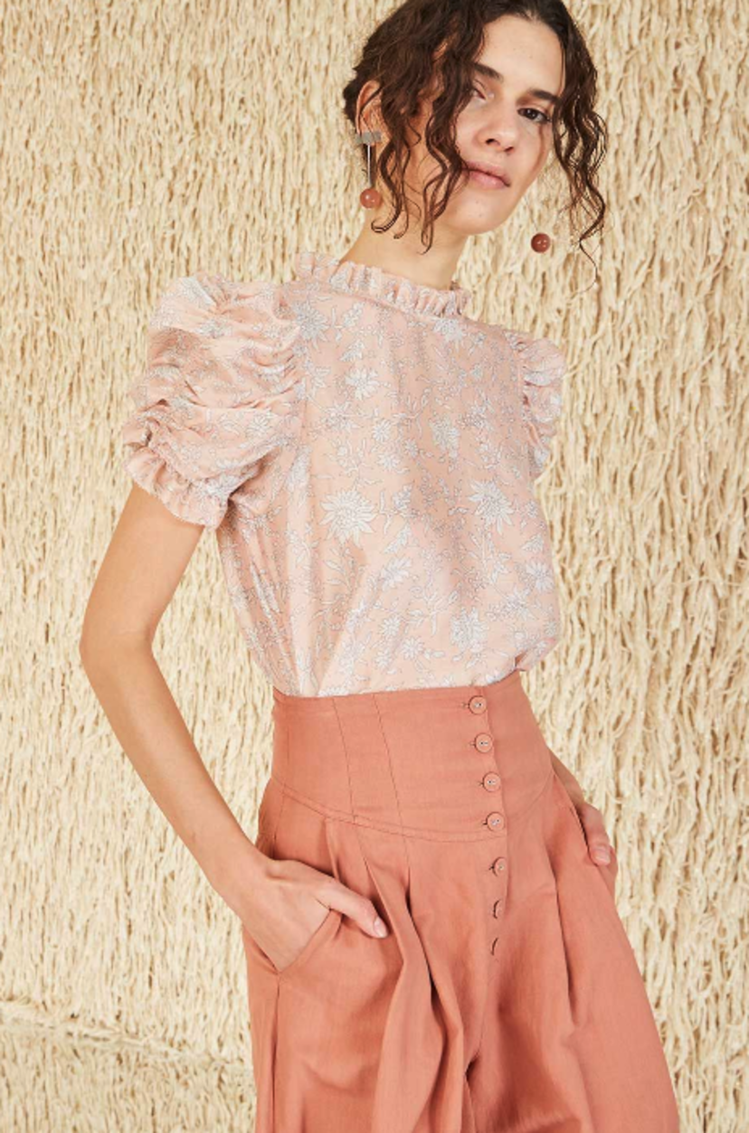 Ulla Johnson Wesley Blouse - Rose Tops