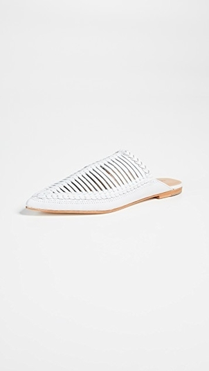 Ulla Johnson Jana Babouche Mules  - Chalk Shoes