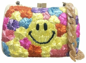 Serpui Smiley Face Clutch Bags