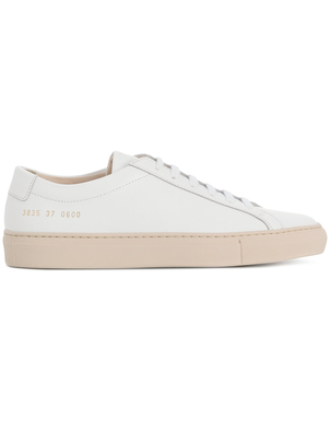 Common Projects Achilles Low Sole Sneaker in White/Nude (Originally $415) Sale Shoes
