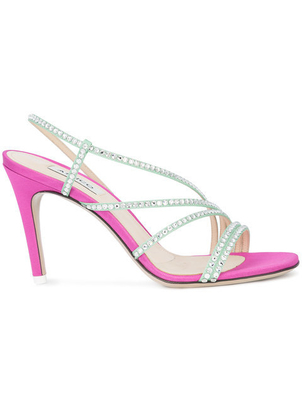 Attico Rhinestone Sandal Shoes
