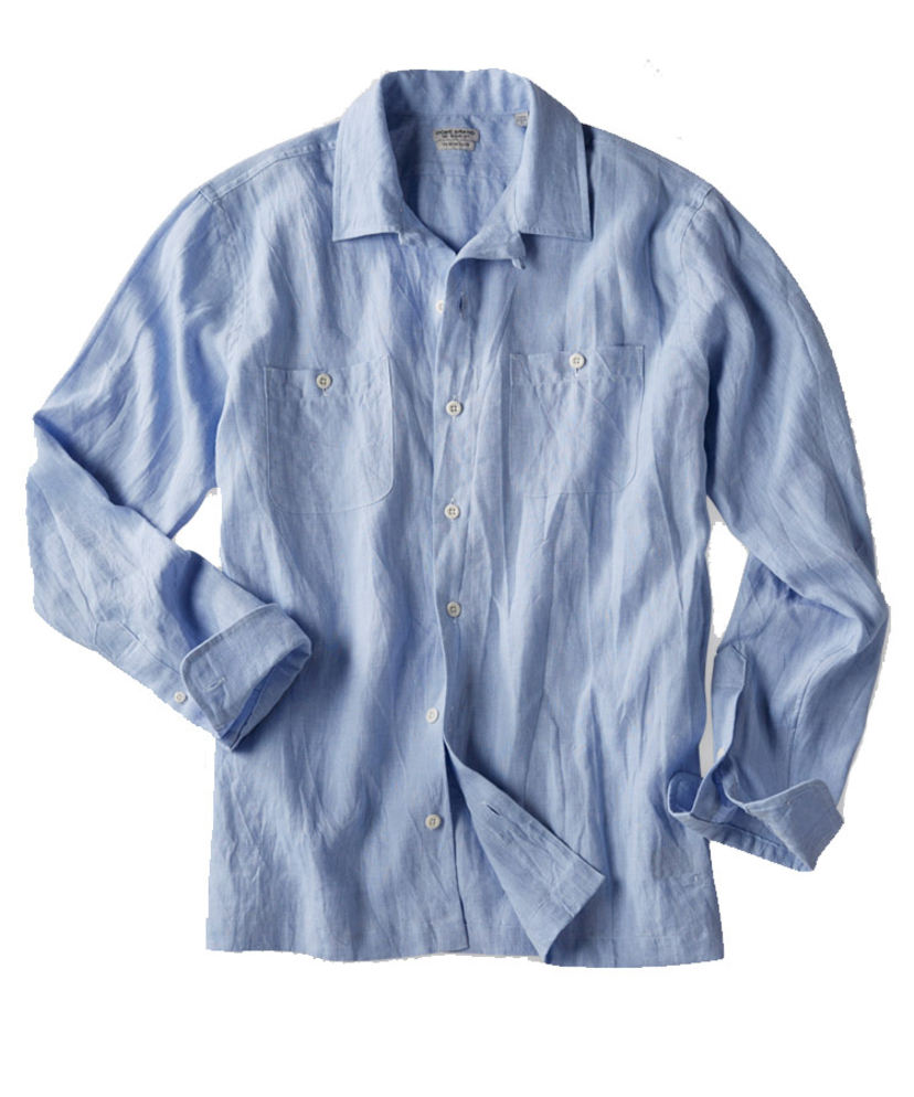 OOBE BRAND CHAMBRAY CAMP SHIRT Men's