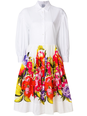 Sara Roka Floral Shirt Dress (Originally $700) Dresses Sale