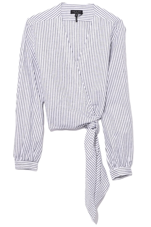 rag & bone Prescot Blouse in Salute Stripe Tops