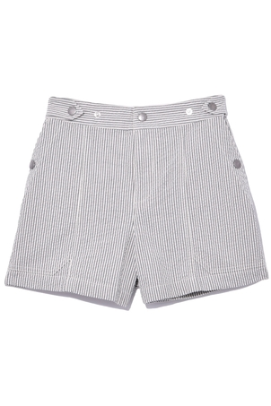 rag & bone Steele Short in Grey Stripe Shorts