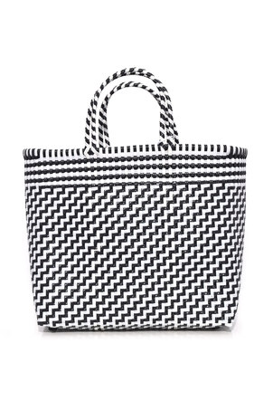 Truss Medium Tote in Black/White Bags