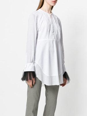Dorothee Schumacher Pleated front cotton tunic/blouse Tops