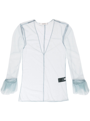 Dorothee Schumacher Schumacher sheer baby blue tulle top Tops