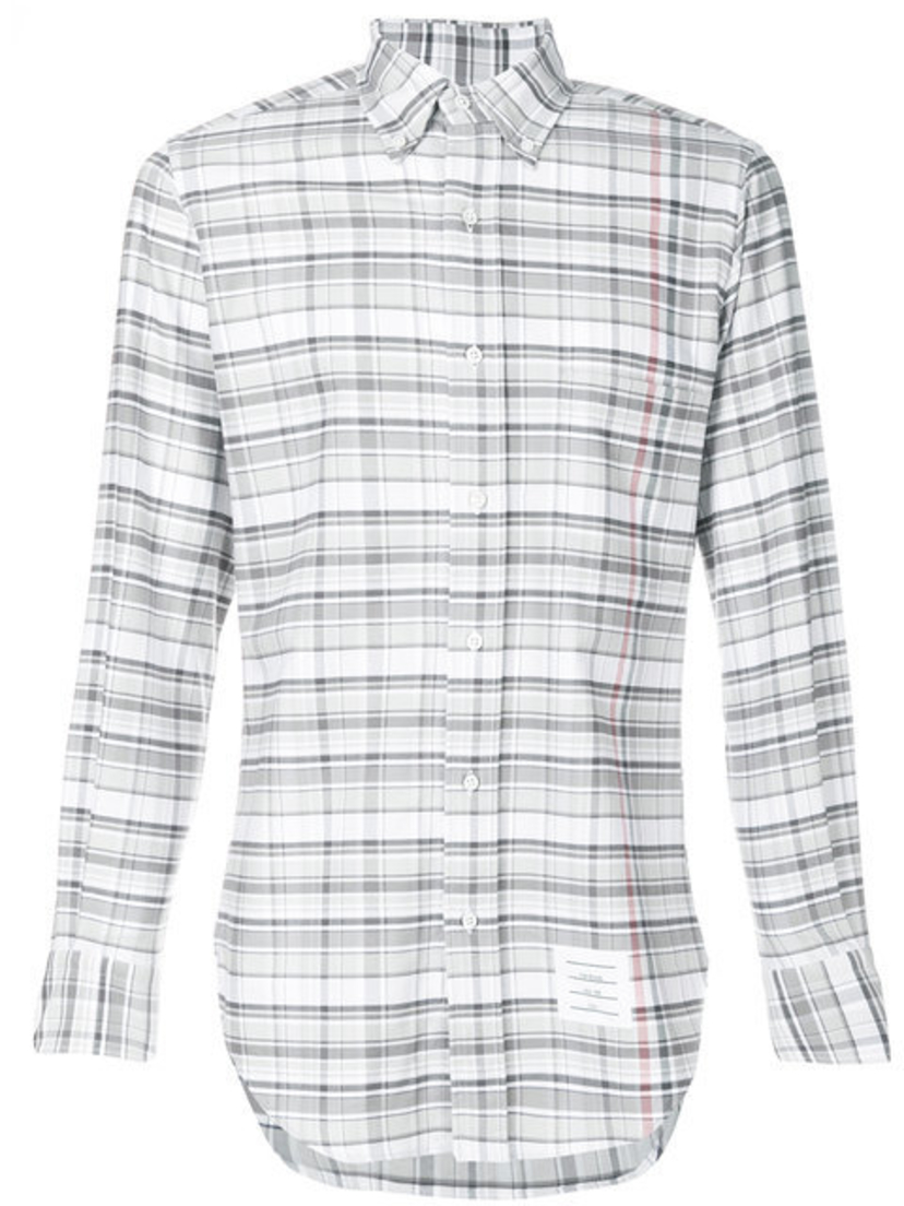 Thom Browne MULTI CHECK OXFORD WITH STRIPE Men's