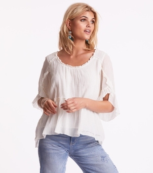 Odd Molly Love Crush Long Sleeve Blouse Tops