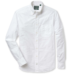Gitman Vintage WHITE OXFORD WITH NO BUTTON DOWN COLLAR Men's