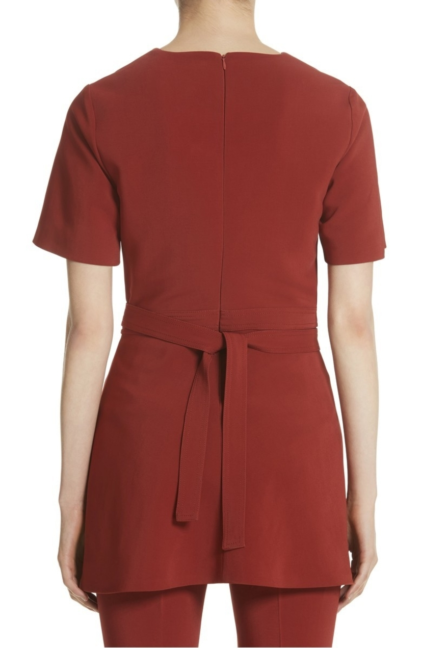 Rosetta Getty Apron Wrap Short Sleeve T-Shirt Tops