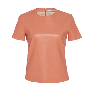 Rosetta Getty Leather T-Shirt Tops