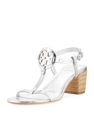 Tory Burch Tory Burch Miller Metallic Espadrille Sandal Shoes