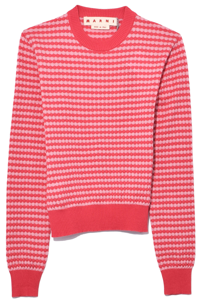 Marni Long Sleeve Crew Neck Sweater in Rouge Red Tops