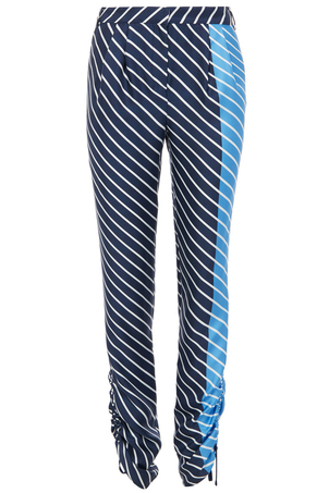 Tibi Delphina Stripe Pant in Navy Multi Pants