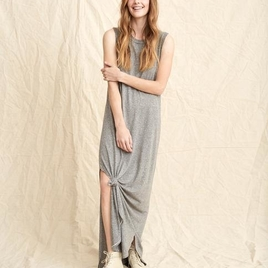 The Sleeveless Knotted Tee Dress