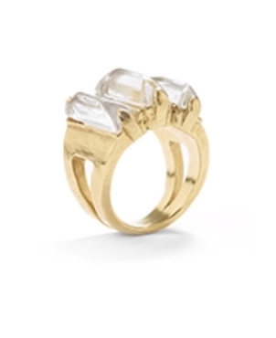 Goossens Paris Baguette Quartz stone ring  Jewelry