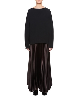 The Row THE ROW VAILEN SKIRT DARK BROWN Skirts