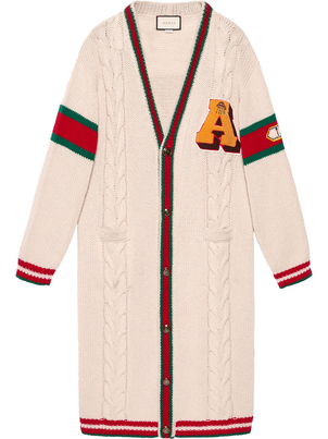 "Gucci ""Guccy"" Cat Long Sleeve Cardigan Outerwear"