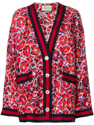 Gucci Oversized Garden Print Cardigan Outerwear