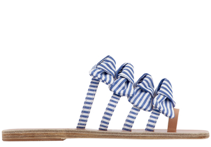 Ancient Greek Sandals Hara Sandals in Blue/White Stripes Shoes