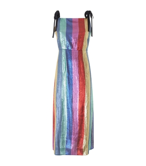 RIXO Tessa – Multi Stripe Sequin Dress Dresses