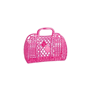 Sun Jellies Small Retro Basket - Hot Pink Bags