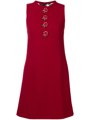 Dolce & Gabbana Sleeveless Button Front Aline Dress Dresses