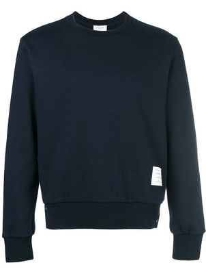 Thom Browne CREWNECK PULLOVER WITH STRIPE Men's
