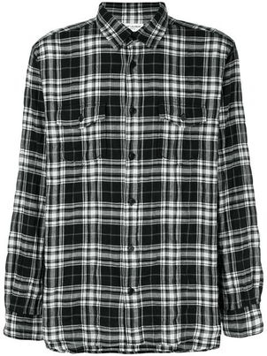Saint Laurent PLAID FLANNEL SHIRT Men's