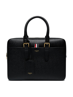 Thom Browne PEBBLED LEATHER BRIEFCASE Men's Sale