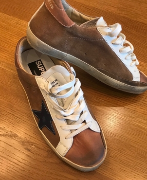Golden Goose Deluxe Brand Golden Goose Pre Fall tan super stars Shoes