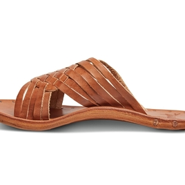 The Swallow Criss Cross Slide in Tan (Originally $280)