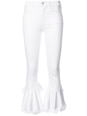 Citizens of Humanity Drew Flounce Cropped Jean in White (Originally $240) Pants Sale