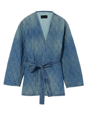 Nili Lotan Quilted Denim Jacket (Originally $895) Outerwear Sale