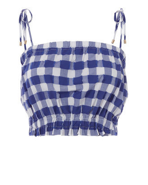 MDS Stripes Cropped Cami in Navy (Originally $295) Pants Sale Tops