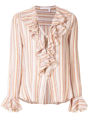 See by Chloé Striped Long Sleeve Top (Originally $425) Sale Tops