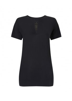Lucas Hugh Black Workout Top (Originally $180) Activewear Sale Tops