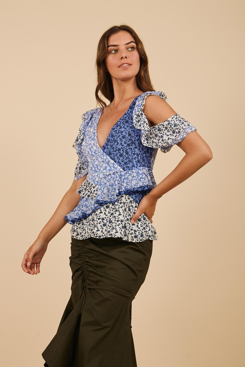 Tanya Taylor Daniele Top - Ditsy Floral Tops