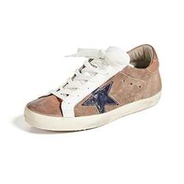 Sneakers Superstar - Tan Leather - Indigo Star
